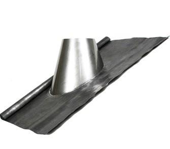 Cubreaguas plomo 25º-45º con collarin antitormenta