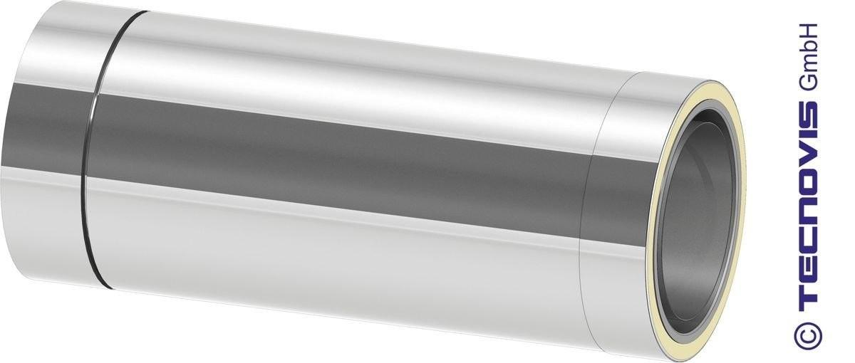 Adaptador Acero 2 mm simple a doble pared