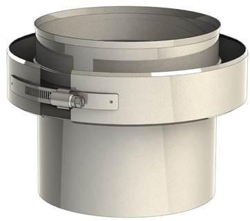 Adaptador Caldera/ tubo 130 a 130 Doble pared