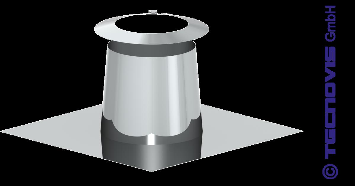 Cubreaguas inox 0 - 5º con collarin antitormenta