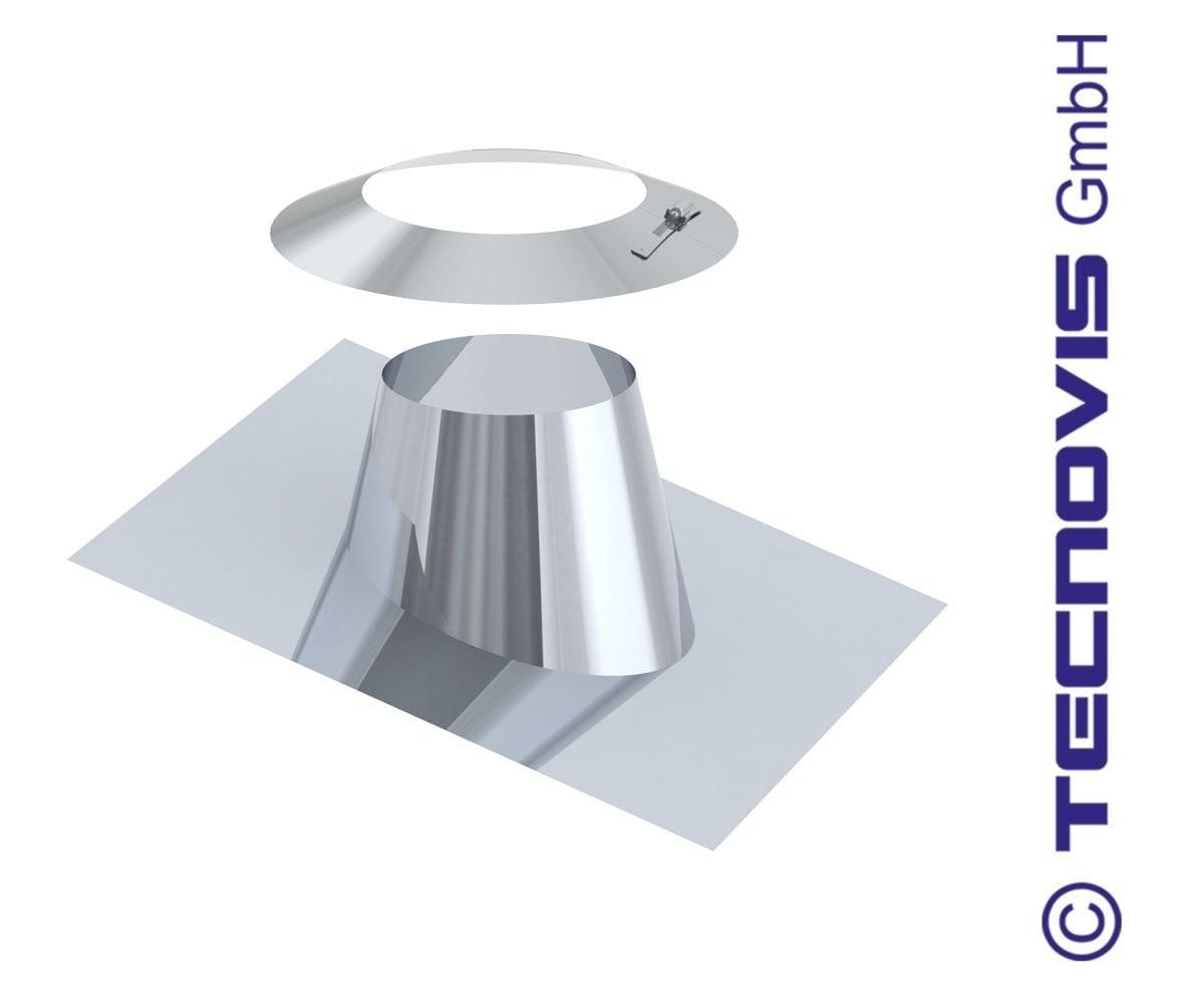 Cubreaguas 5 - 25º aluminio con collarin antitormenta