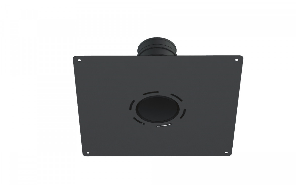 Adaptador acero 2 mm a flex, con placa