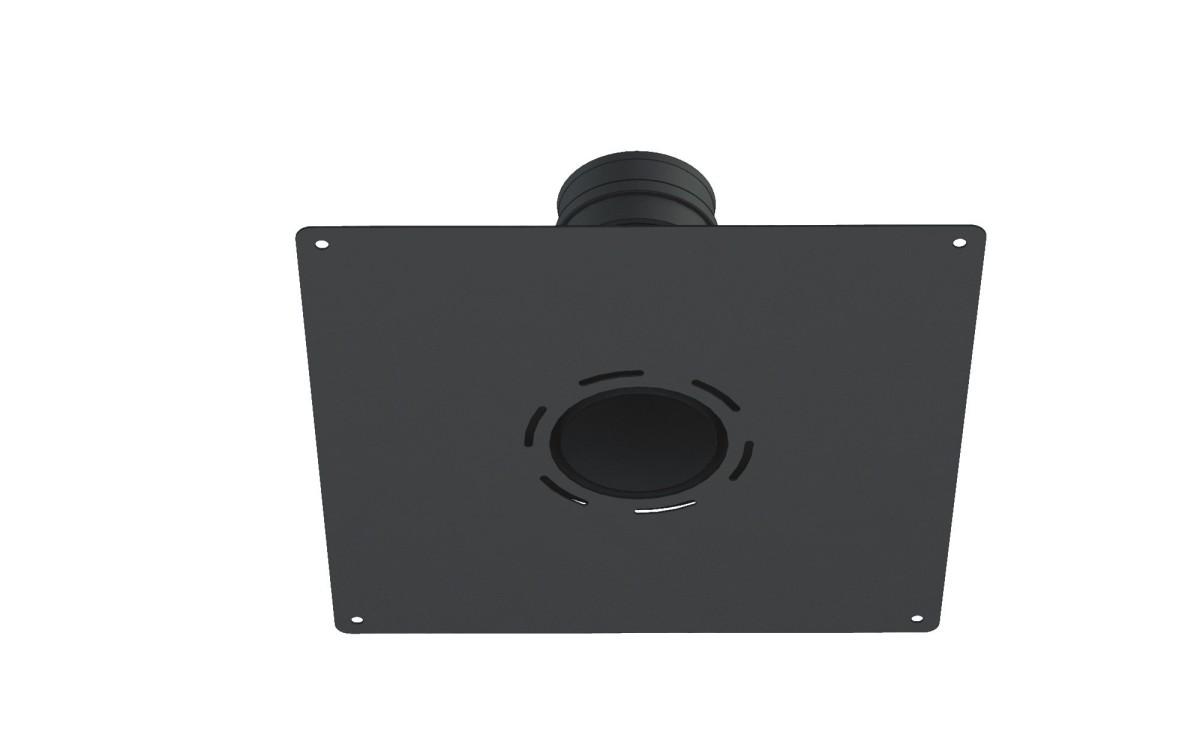 Adaptador acero 2mm a flex, con placa