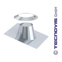 Cubreaguas 5º-25º aluminio con collarin antitormenta