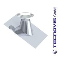 Cubreaguas 25º-45º aluminio con collarin antitormenta