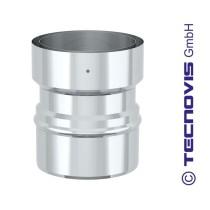 Adaptador tubo simple inox (abajo) a flex